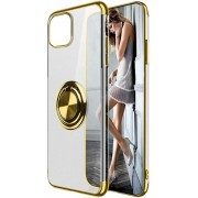 Teleplus Samsung Galaxy S20 Case Luxury Laser Ring Silicone Gold hoesje