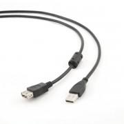Cablu PC; USB 2.0 A M la USB 2.0 A F; 3m