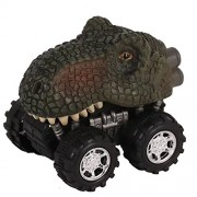 EDTara Mini Dinosaur Car Toy Spring Pull Back Car Model Vehicle Wind-up Toys Kids Educational Toy Tyrannosaurus