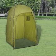 vidaXL Палатка за душ/тоалатна/преобличане, зелена