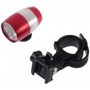 ER 6 LED De Ciclismo De Bicicletas Cabeza Frente Luz De Flash Advertencia Impermeable Seguridad De La Lámpara (Rojo)
