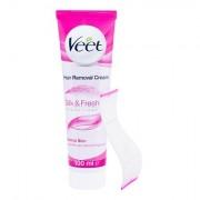 Veet Silk & Fresh Normal Skin Rasiercreme für normale Haut 100 ml für Frauen