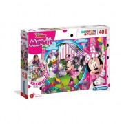 Puzzle Clementoni SuperColor Maxi: Disney Junior Minnie, 40 piese
