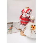 Set Traditional Botez - Costumas fetita Trusou Lumanare 4