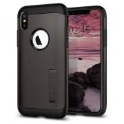 Spigen Slim Case Armure iPhone XS Max Housse gris