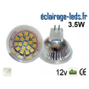 Ampoule LED MR16 18 led smd 5050 blanc naturel 12v 60° ref mr16-05