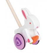 Hape-Wooden Bunny Push and Pull