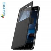 Colorfone Custodia Per Nokia 8 Con Finestra - Colorfone Nera