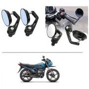 AutoStark 7/8 22cm Motorcycle Rear View Mirrors Handlebar Bar End Mirrors - Hero Passion Pro TR