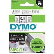 Dymo D1 Labelling Tape 40910 Black on Clear 9 mm x 7 m
