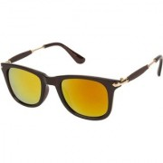 Adrian Wayfarer Rectangular Sunglasses(Yellow Golden)
