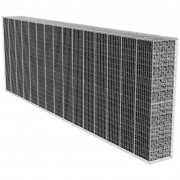 vidaXL Габионна стена с капак, 600х50х200 см