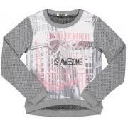 Dirkje pulover za djevojčice s uzorkom, 110, sivi
