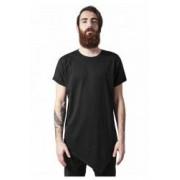 Tricou lung asimetrice - negru - Urban Classics - NEGRU