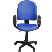 Cadeira Excellence Azul Giratória com Regulagem e Braço de Apoio - Pethiflex