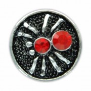 Geen Sieraad chunk rode spin 1,8 cm