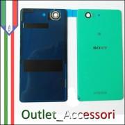 Copribatteria Cover Vetro Sony Xperia Z3 Mini Compact D5803 Verde Green