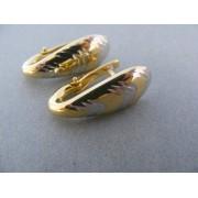 Zlaté náušnice žlté biele zlato s leskom podlhovasté DA355V