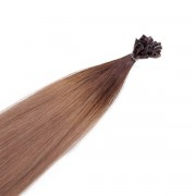 Rapunzel® Extensions Naturali Nail Hair Original Liscio R2.2/7.3 Brown Ash Root 50 cm