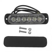 AST Works 18W 6-LED Light Flash Emergency Car Vehicle Warning Strobe Flashing Lamp Amber
