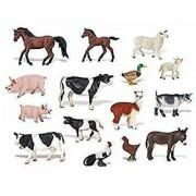 ANABGI Farm Animals Figures Set - Medium (Pack of 12)