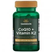 Swanson Koenzym Q10 100 mg + Vitamín K2 180 mcg 60 kapslí
