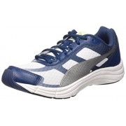 Puma Men's Expedite White, Poseidon and Puma Silver Mesh Running Shoes - 8 UK/India (42 EU)