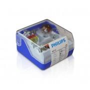 Philips 55008SKKM - Set becuri auto de rezervă H1 12V