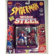 Spiderman Web Of Steel Die Cast Metal Collectible Figures - Spiderman vs Carnage