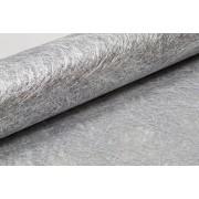 Vegaoo Bordslöpare i metallicsilver nättyg One-size