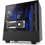 Carcasa NZXT H500i Smart Matte Mid-Tower, Black/Blue