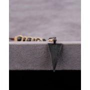 Dare by Voylla Beaded Gypsy Triangle Pendant Bead Necklace