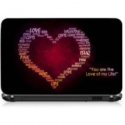 VI Collections LOVE TYPOGRAPHY PVC Laptop Decal 15.6