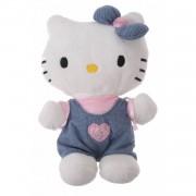 Jemini Hello Kitty Knuffel Bean Bag meisjes jeans blauw 15cm