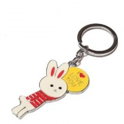 Bunny I love you keychain By Daffodils ( Pack Of 2 )