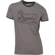 Fender T Shirt Ringer Dark Grey L