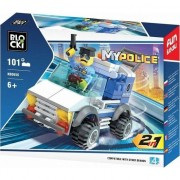 Joc constructie Blocki , Jeep politie , 101 piese , Robentoys®