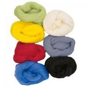 """Farbige Naturwolle """"Grundfarben"""", 100g-Pack"""