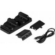 Kit Dobe dock incarcare plus 2 acumulatori pentru controller Xbox One Slim Elite Negru