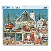 Caltime Extra Large Advent Calendar - Santa's Toy Workshop a Special 3D Glitter Christmas