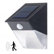 Royal Gardineer Solar-LED-Wandleuchte mit PIR-Sensor, IP44, 1,44 W, 96 lm