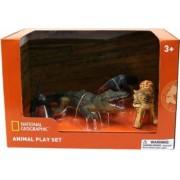 Set 4 figurine National Geographic Furnicar Crocodil Leopard si Maimuta