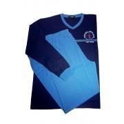 Vintage pyžamo s dlouhým rukávem AH7815-V L tmavě modrá