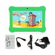 Q88 AU Plug Niños Tablet Con Pantalla Táctil De 7 Pulgadas, 512 MB De +8GB Kid Pad Con Altavoz Verde