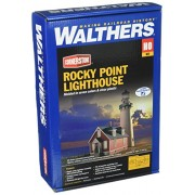 "Walthers, Inc. Rocky Point Lighthouse Kit, 3 x 8-1/8 X 8-7/8"" 7.5 X 20.3 X 22.8cm"