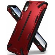 Protectie Spate Ringke Dual X 8809628562585 pentru iPhone Xr (Rosu)