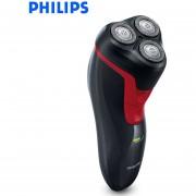 Philips Wet/Dry a prueba de agua reciprocante Afeitadora eléctrica FT668/FT618 con Triple hoja recargable máquina de afeitar rotativa(Rojo FT688)