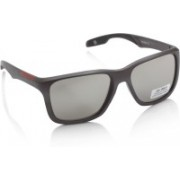 Joe Black Rectangular Sunglasses(Silver)