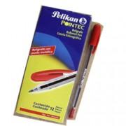 Bolígrafo Pelikan pointec tinta roja 0.7 mm caja c/12 piezas