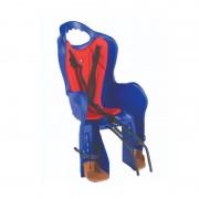 Scaun copii pentru bicicleta Elibas 2, suporta 22 kg, material plastic, Albastru